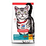 Hill's Science Diet Adult Indoor, alimento seco para gatos adultos de interiores, receta de pollo, bolsa de 7 kg.