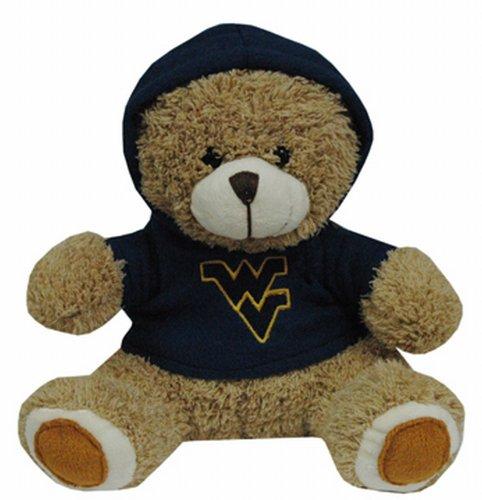 NCAA West Virginia Mountaineers Plush Bear with Logo Hoodie, Team Color ()