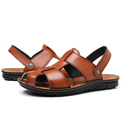 Men's Sandal Yellow Sandals Fisherman Summer Leather Casual SLJ 7v6nqdCwxq