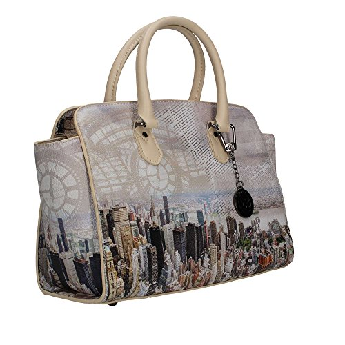 BORSA DONNA Y NOT? SHOPPING CON TRACOLLA BEIGE MANHATTAN INSTANT H348