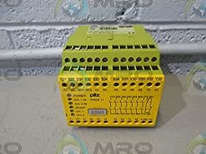Seta de emergencia Schalt dispositivo pnoz 11# 774085110–120ac24dc7N/o1nc dispositivo para vigilancia de sicherheitsgerichteten Circuitos 4046548012101