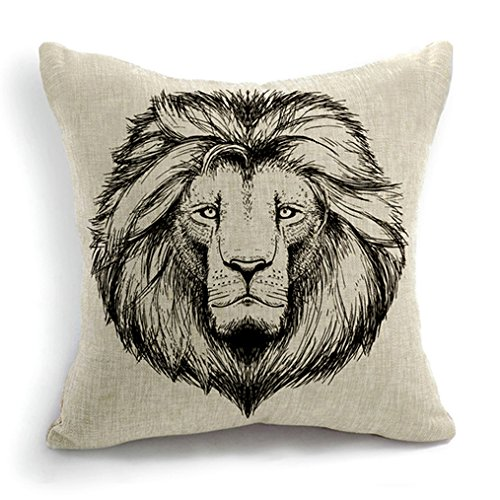 Animal Style Lion King Simba Sofa Simple Home Decor Design Throw Pillow Case Decor Cushion Covers Square 18*18 Inch Cotton Blend Linen