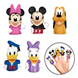 Disney Mickey Mouse & Friends Finger Puppets - Party Favors, Educational, Bath Toys
