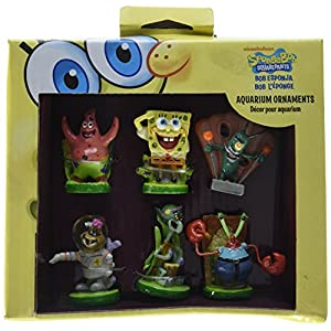 Penn Plax 6-Piece Spongebob Squarepants Mini Set 3