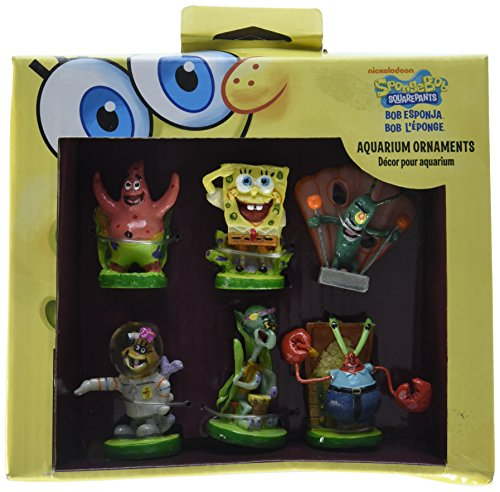 Penn Plax 6-Piece Spongebob Squarepants Mini Set by Penn Plax