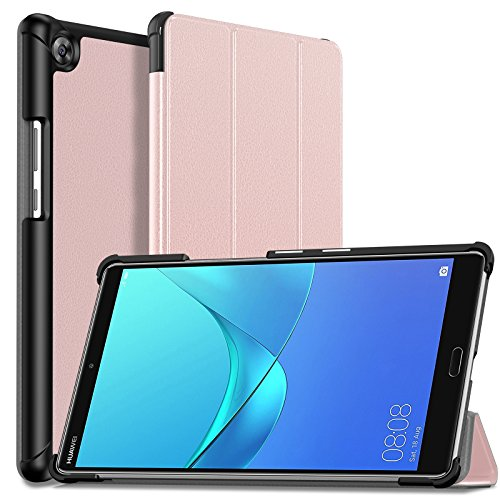 Infiland Huawei MediaPad M5 8 4 Case, Tri-Fold Ultra Slim Stand Smart Case  Cover for Huawei MediaPad M5 8 4