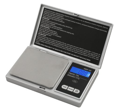 (American Weigh Scale Signature Series Digital Pocket Weigh Scale, Silver 100 x 0.01)