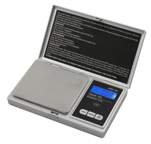 American Weigh Scale Signature Series Digital Pocket Weigh Scale, Silver 100 x 0.01 G (Signature Pocket)