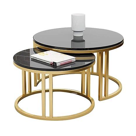 Moderno 2 Juegos de mesas Nido de cafés Mesa Lateral Mesa de ...
