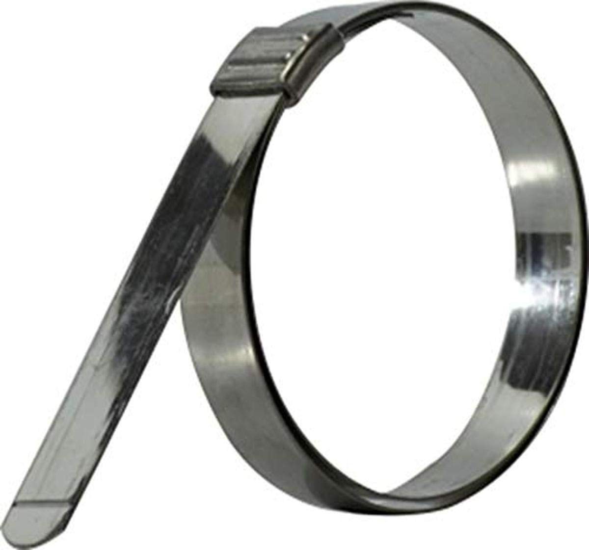 Stainless Steel 0.030 Thickness Smooth ID 5//8 width Clamp I.D Midland FLJS-205 Stainless Steel Fljs-Clamp Hose Clamp 1-1//2