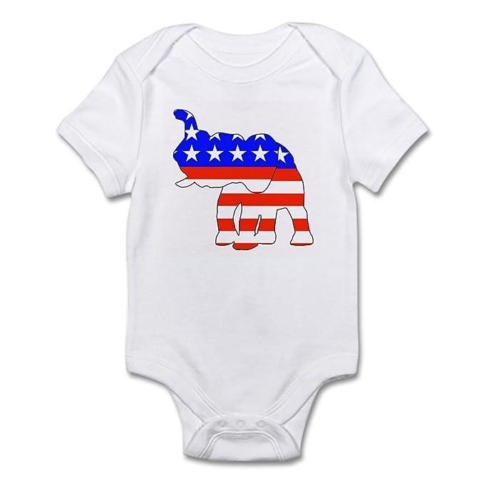 09e385948 Amazon.com  CafePress Republican GOP Logo Elephant Infant Creeper - Cute  Infant Bodysuit Baby Romper  Clothing