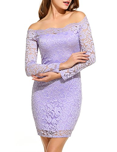 ACEVOG Shoulder Bodycon Cocktail Wedding
