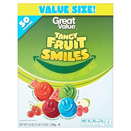 Fruit Smiles Tangy Fruit Snacks – 50 bolsas: Amazon.com ...
