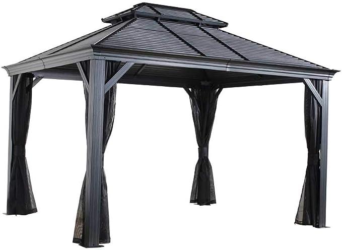 Aluminio Carpa Pabellón Gazebo míkonos//299 x 425 cm (BxH)//Verano Carpa y cenador con Hard de Top techo de sojag: Amazon.es: Jardín