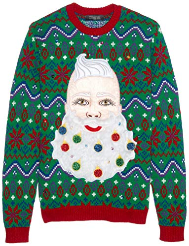 Blizzard Bay Men's Santa Beard Ornaments Ugly Christmas Sweater, XX-Large