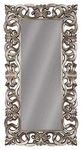 Signature Design by Ashley A8010122 Lucia Accent Mirror, Antique Silver Finish by Signature Design by Ashley