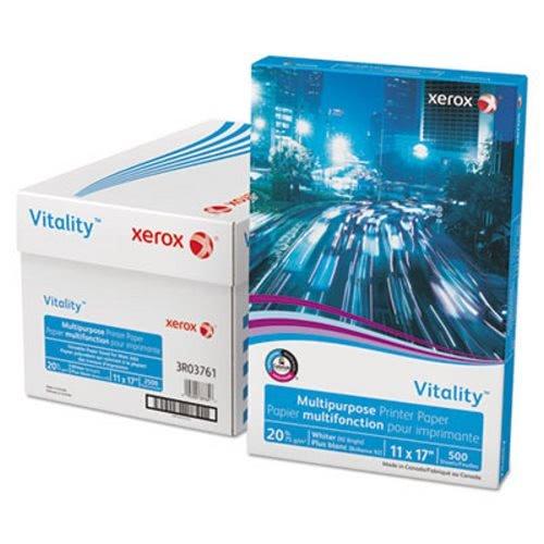 Xerox 3R03761 Vitality Multipurpose Printer Paper, 11 x 17, White, 500 Sheets/RM