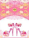 Writedrawdesign Notebook, Blank Unlined, 8. 5 X 11 Inches, Pink Stiletto Heels, Writedrawdesign, 1496017048