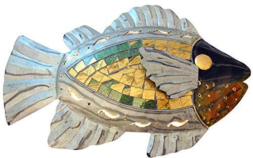 Westman Works Mosaic Fish Handmade Metal Wall Decor Plaque, 13 Inches Long