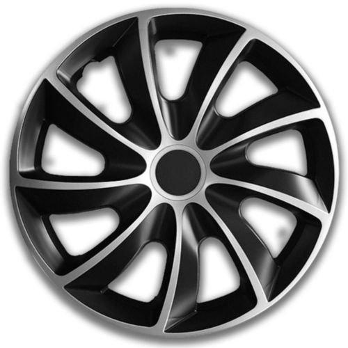 BMW Argent Noir bicolore Q16/16/Jeu de 4/enjoliveurs Jeu de 4/enjoliveurs 16/ guide de montage inclus Produit neuf et OVP Top offre. 4/Enjoliveurs