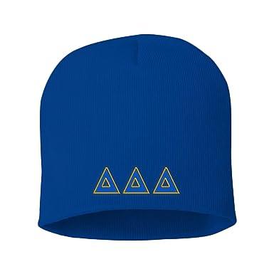 Greekgear Delta Delta Delta Big Greek Lettered Skull Cap Royal Blue w Royal  Blue  4d76f773dc9f