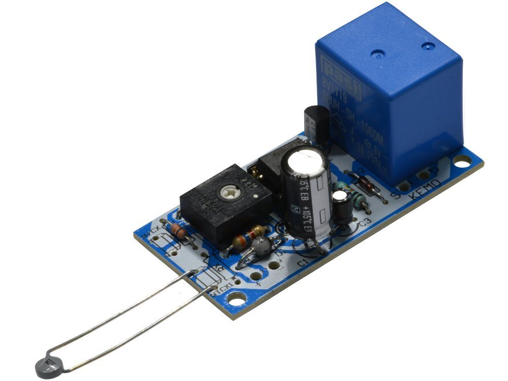 KIT termostato caldo freddo soglia regolabile sonda NTC 12V DC con uscita a rel/è Kemo Electronic