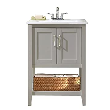 Great Legion Furniture WLF6020 G 24u0026quot; Single Sink Bathroom Vanity With  Ceramic Sink Top,