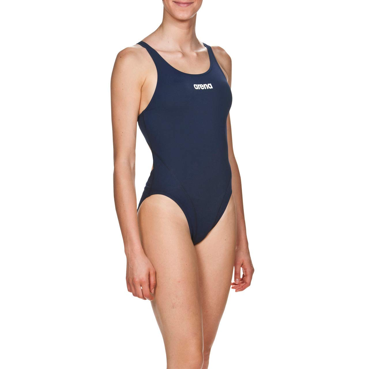 ARENA W Solid Swim Tech High Costume Sportivo Donna