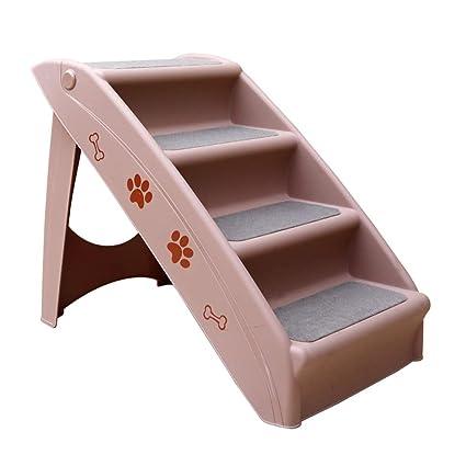 JXXDDQ Escalera de Perro Antideslizante Plegable de plástico para Mascotas, Entrenamiento de Perros, Juego
