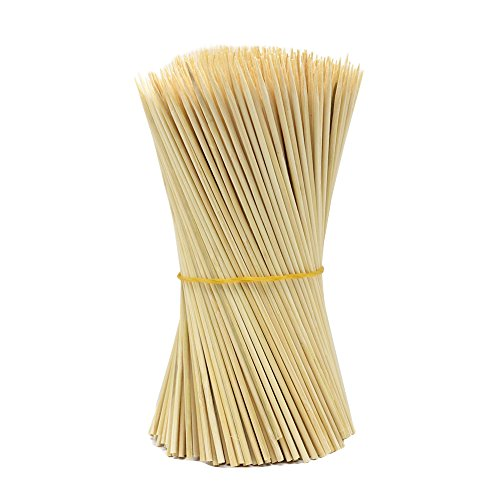 Hysagtek 400 Wooden Bamboo Skewers Sticks For BBQ Fruit Chocolate Fountain Fondue 15cm