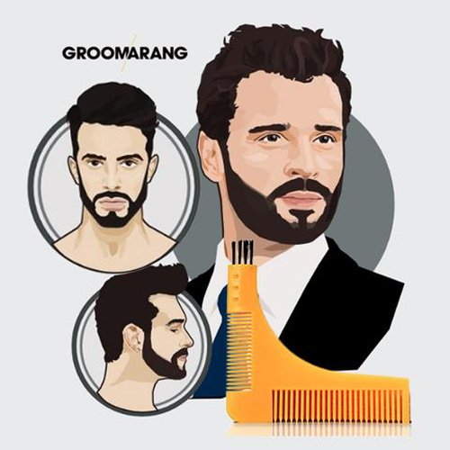 #❶ BEST Beard Styling and Shaping Template Comb Tool. Perfect for Moustache Lines, Symmetry Shape Face & Neck Line