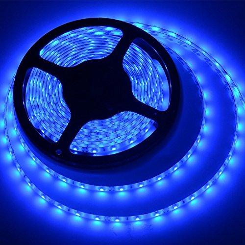 meili led light strip smd 3528 164 ft 5 meter waterproof 300 leds 12v flexible rope light no power supply blue