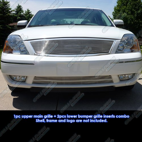 05-07 Ford Five Hundred 500 Billet Grille Grill Combo Insert # F61037A for sale