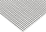 "Steel Woven Mesh Sheet, Zinc Galvanized Finish, 12"" Width, 12"" Length, 0.028"" Wire Diameter, 60% Open Area"