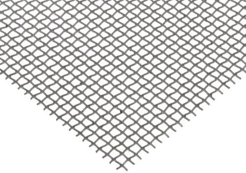 36 Length 0.032 Wire Diameter 55/% Open Area 36 Width 36 Length 0.032 Wire Diameter Small Parts GA-008-0320-36-02 36 Width Steel Woven Mesh Sheet Zinc Galvanized Finish
