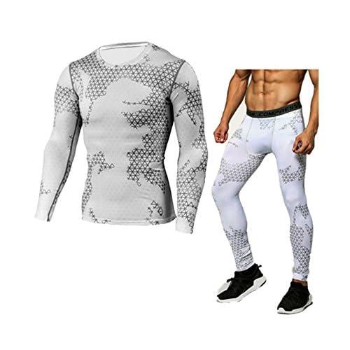 Vêtements de sport pour hommes - Camouflage Skinny T-Shirt Manches Longues & Pantalons Fitness & Leisure Training Set