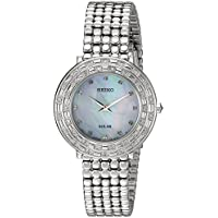 Seiko Tressia Solar Crystal Mother of Pearl Dial Women's Watch