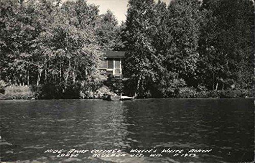 Hide Away Cottage, Wilsie's White Birch Lodge Boulder Junction, Wisconsin Original Vintage Postcard