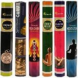 Aromatika Best Seller Hexa Combo Pack 'C' (6 Boxes X 20 Sticks=120 Sticks) incense sticks Spiritual Guru,Yoga chakra,7 Power,Stress Relief,Meditation,Relaxing
