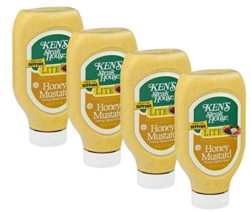 (Ken's Steak House LITE Honey Mustard - 24 oz Squeezable Bottle - (Pack of 4))