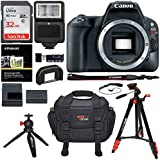 Canon EOS Rebel SL2 Digital SLR Camera Body, Sandisk Ultra 32GB, Ritz Gear Tripod, Carrying Case, Camera Flash, Tabletop Tripod, Card Reader and Accessory Bundle