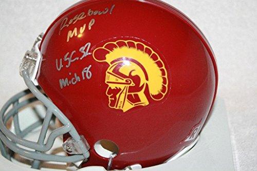 ROSE BOWL MVP Dwayne Jarrett signed & inscribed USC Trojans mini helmet, COA - Autographed College Mini Helmets (Rose Bowl Usc Autographed)