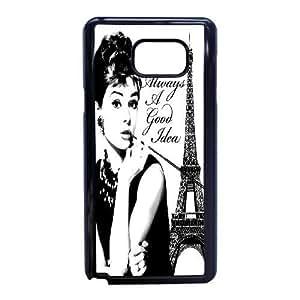 Samsung Galaxy Note 5 Phone Case Black Audrey Hepburn ZEC904151