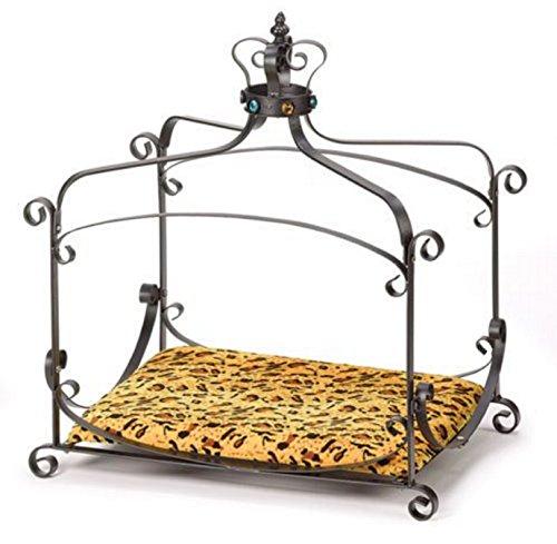 Dog Cat Ferret Royal Splendor Velvet Canopy Dog Bed Small Soft Warm Pet Deluxe Sofa Bed (Velvet Canopy) - Glass Canopy Bed