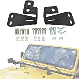 Partol Hi-Lift Jack Mount Hood Brackets Fit Jeep Wrangler CJ 1944-1986/YJ 1987-1995/TJ 1997-2006