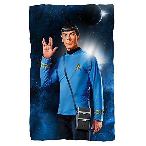 Star Trek Spock Fleece Blanket White 48X80