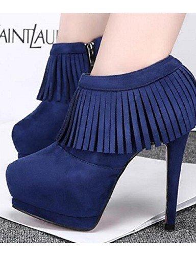 Red Zapatos Gris Negro Tacón us7 Cn38 Azul Dark Bermellón Cerrada Mujer Uk3 5 Blue Exterior Stiletto Cn34 Botas Casual Rojo Punta De us5 Sintético Xzz 5 Eu38 Uk5 Eu35 S6WgUdxS