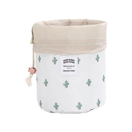 Pawaca Bolso de Cosméticos Portable Organizador, Bolsa de Aseo Impermeable Neceser de Viaje Bolsas de aseo con Cordón Bolsa de Cosmeticos ...