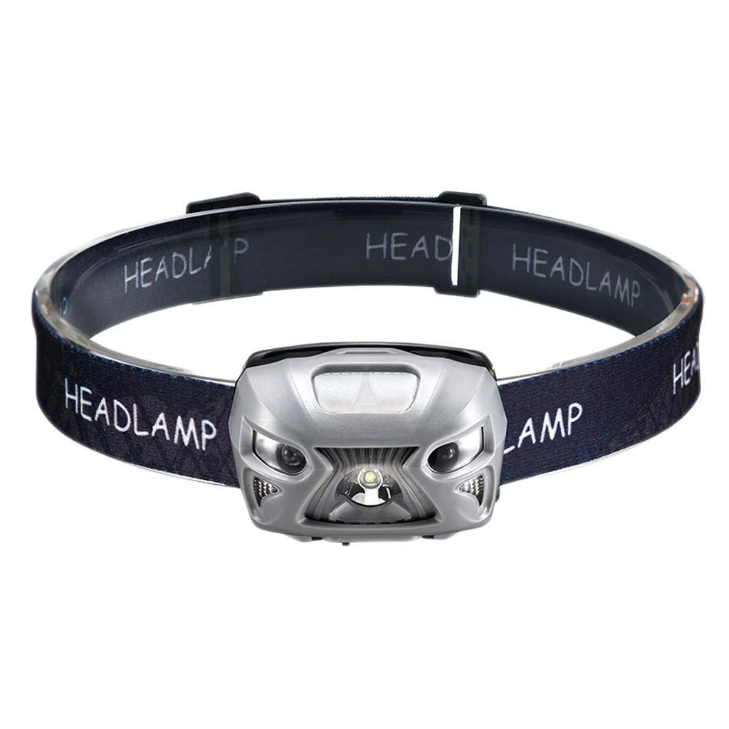 GLJJQMY LED-Scheinwerfer, Induktions-Blendung, Wiederaufladbare Scheinwerfer, Nachtangeln Zum Angeln Von Angelnächten Taschenlampe (Farbe : grau)