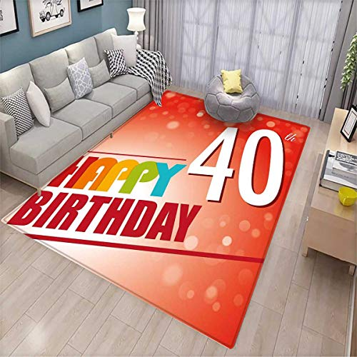 ize Door mats for Home Mat Party Invitation in Vibrant Colored Retro Style and on Bokeh Effect Backdrop Door Mat Outside Multicolor ()
